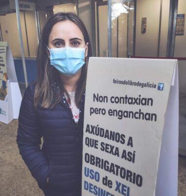 Cristina Grela en la feria del libro de Santiago 2020