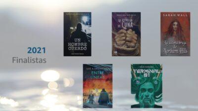Portadas de los finalistas del Premio Literario 2021